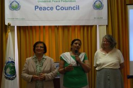 Cllr. Margaret Ali, Saleha Jaffer and Cllr. Janet Baddeley: UPF Community Cohesion Group